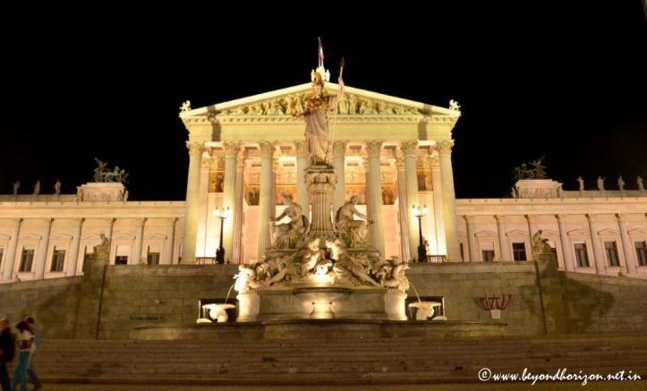 Vienna Parliament Night